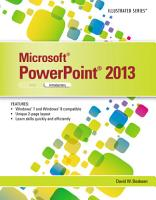Microsoft PowerPoint 2013  Illustrated Introductory PDF