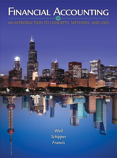Student Solutions Manual For Weil Schipper Francis Financial Accounting An Introduction To Concept