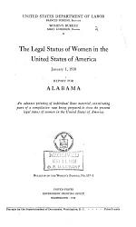 The Legal Status of Women in the United States of America