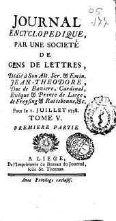Journal encyclopedique ou Universel: Volume5,Partie1