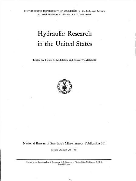 Download Hydraulic Research in the United States Book