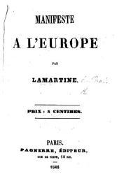 Manifeste à l'Europe