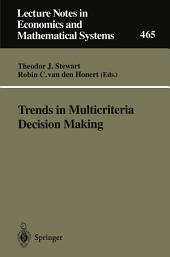 Trends in Multicriteria Decision Making: Proceedings of the 13th International Conference on Multiple Criteria Decision Making, Cape Town, South Africa, January 1997
