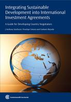 Integrating Sustainable Development Into International Investment Agreements PDF