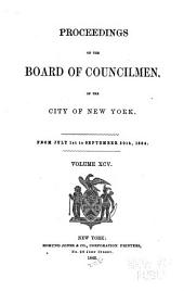 Proceedings of the Board of Councilmen of the City of New York: Volume 95