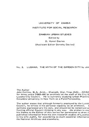 Lusaka PDF