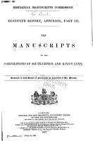 The Manuscripts of the Corporations of Southampton and King s Lynn PDF