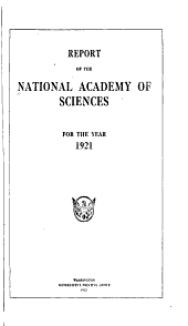 Report of the National Academy of Sciences