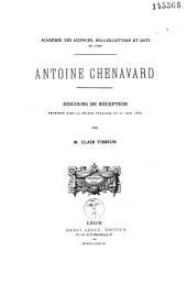 Antoine Chenavard: discours de réception à l'Académie de Lyon