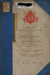 An Address Delivered in the Old South Meeting-house in Boston, November 27, 1895 Before the Society of Colonial Wars in the Commonwealth of Massachusetts: In Commemoration of the Six Hundredth Anniversary of the First Summoning of Citizens and Burgesses to the Parliament of England, Wherein the History of the House of Commons is Sketched and a Comparison Made of the Development of the Legislatures of Great Britain and the Commonwealth of Massachusetts