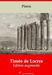 Timée de Locres: Nouvelle édition augmentée