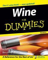 Wine For Dummies PDF