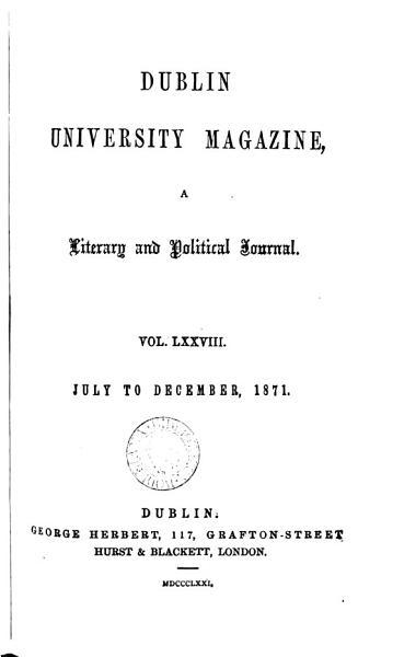 Download Dublin University  A Literary Journal and Political Journal Book