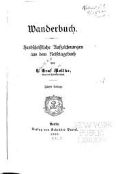 Wanderbuch: handschriftliche Aufzeichnungen aus dem Reisetagebuch