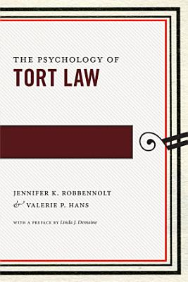 The Psychology of Tort Law PDF