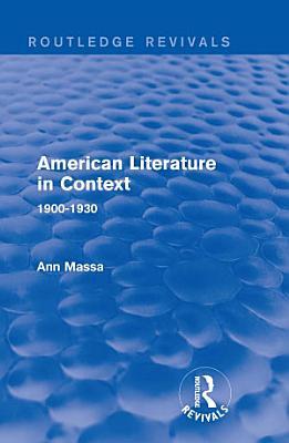 American Literature in Context PDF