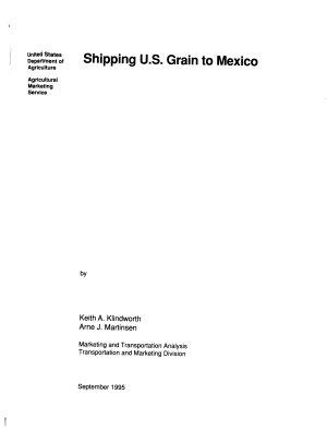 Shipping U S  Grain to Mexico PDF
