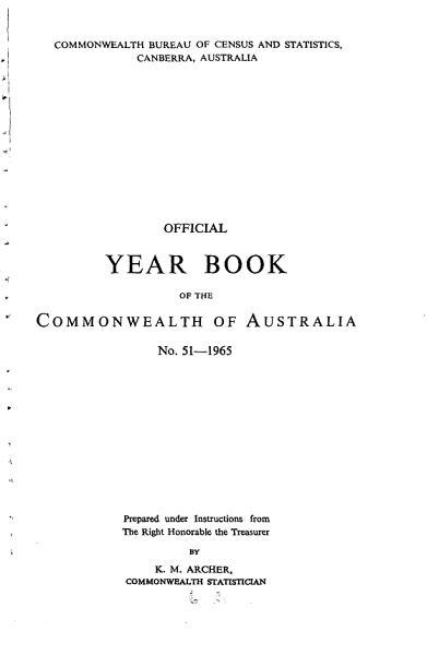 Download Official Year Book of the Commonwealth of Australia No  51   1965 Book