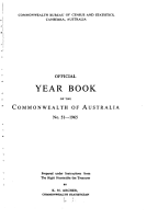 Official Year Book of the Commonwealth of Australia No  51   1965 PDF