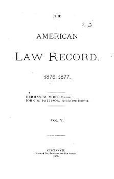 The American Law Record PDF