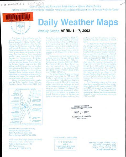 Daily Weather Maps PDF