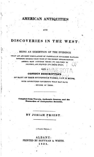 American Antiquities and Discoveries in the West PDF