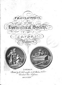 Transactions of the Horticultural Society of London Book