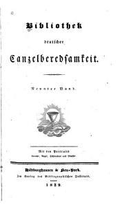 Bibliothek deutscher Canzelberedsamkeit: Bände 9-10
