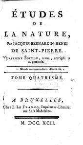 Études de la nature: Volume 4