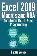 Excel 2019 Macros and VBA