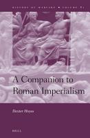 A Companion to Roman Imperialism PDF