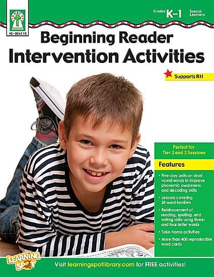 Beginning Reader Intervention Activities  Grades K   1 PDF