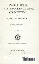 Proceedings  Thirty Fourth Annual Convention of Rotary International PDF