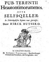 Heautontimorumenos, ofte Selfs-qeller