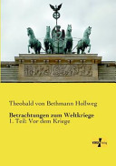 Betrachtungen zum Weltkriege PDF