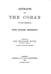 Extracts from the Coran in the Original: With English Rendering