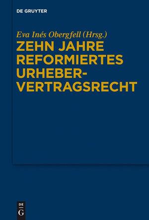 Zehn Jahre reformiertes Urhebervertragsrecht PDF