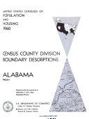 Census County Division Boundary Description