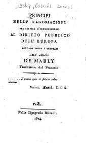 Principi delle negoziazioni per servire d'introduzione al diritto pubblico dell'Europa ...