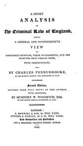 A Short Analysis of the Criminal Law of England