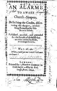 An Alarme to awake Church Sleepers  etc PDF