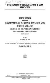 Investigation of Lincoln Savings   Loan Association PDF
