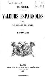 Manuel des principales valeurs espagnoles sur le marché français