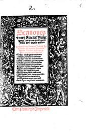Sermones e[t] varij Tractat[us] Keiserspergii