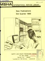 New Publications from the MSHA Informational Service Library
