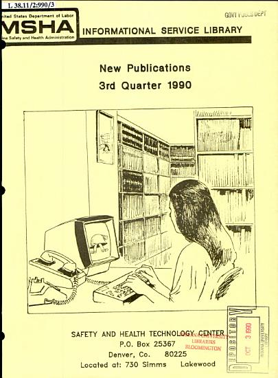 New Publications from the MSHA Informational Service Library PDF