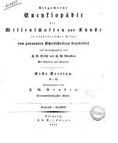 Allgemeine Enchtlopadie Der Wissenschaften und Kunste