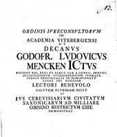 Ius cerevisiarium civitatum Saxonicarum ad milliare omnino restrictum: Volume 13