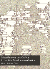 Miscellaneous Inscriptions in the Yale Babylonian Collection