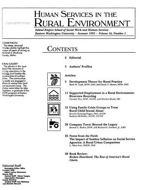 Human Services in the Rural Environment PDF